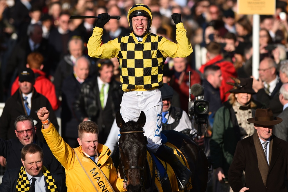 Al Boum Photo won the Cheltenham Gold Cup for the second year running.