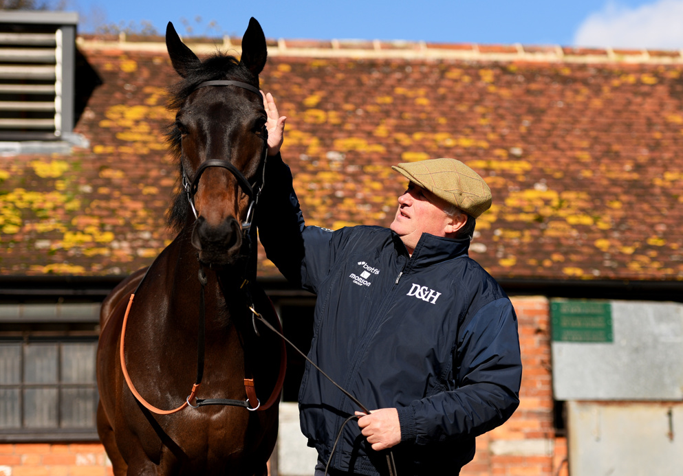 Paul Nicholls trailed Nicky Henderson by just shy of £200,000 when racing was suspended.