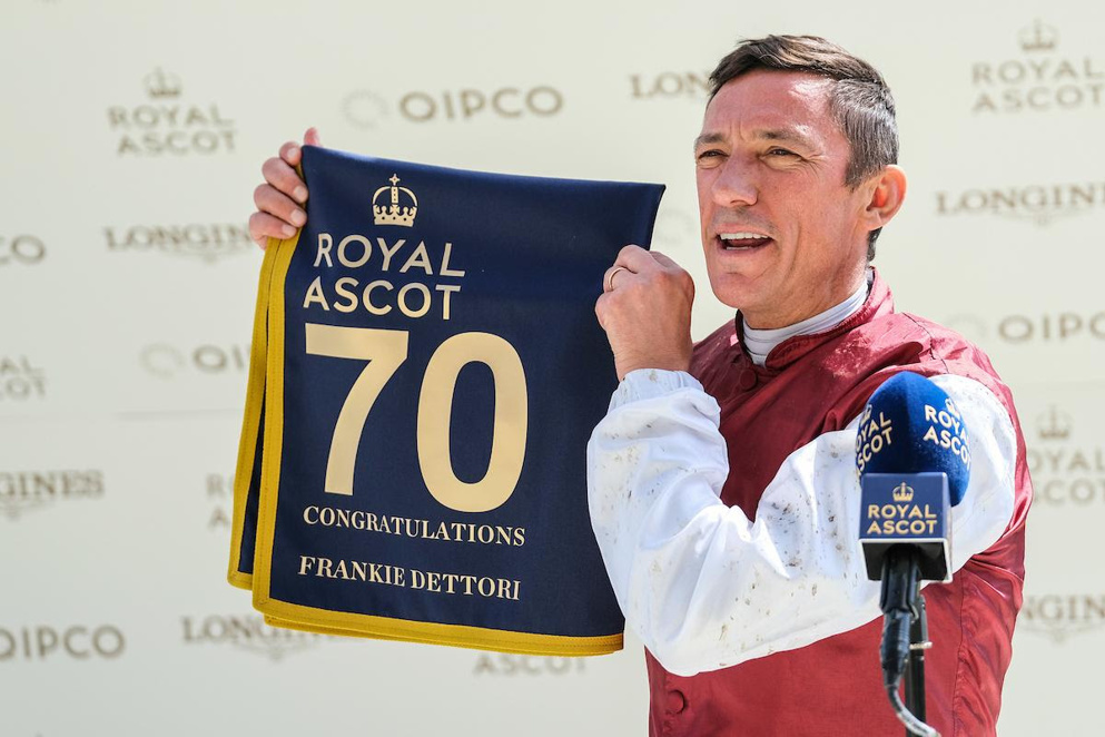 Frankie Dettori enjoyed an excellent week at Royal Ascot, being crowned as top jockey.