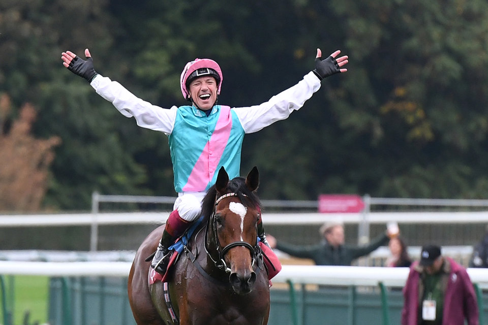 Frankie Dettori could be celebrating after the Breeders' Cup Turf