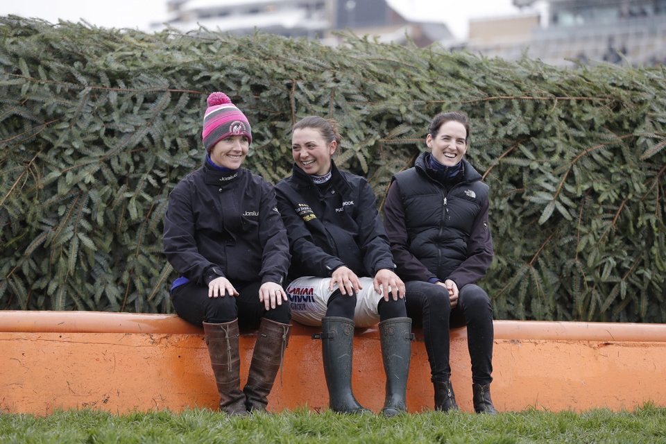 Katie Walsh (left), Bryony Frost (centre) and Rachael Blackmore (right) all had a ride in the 2018 Grand National.