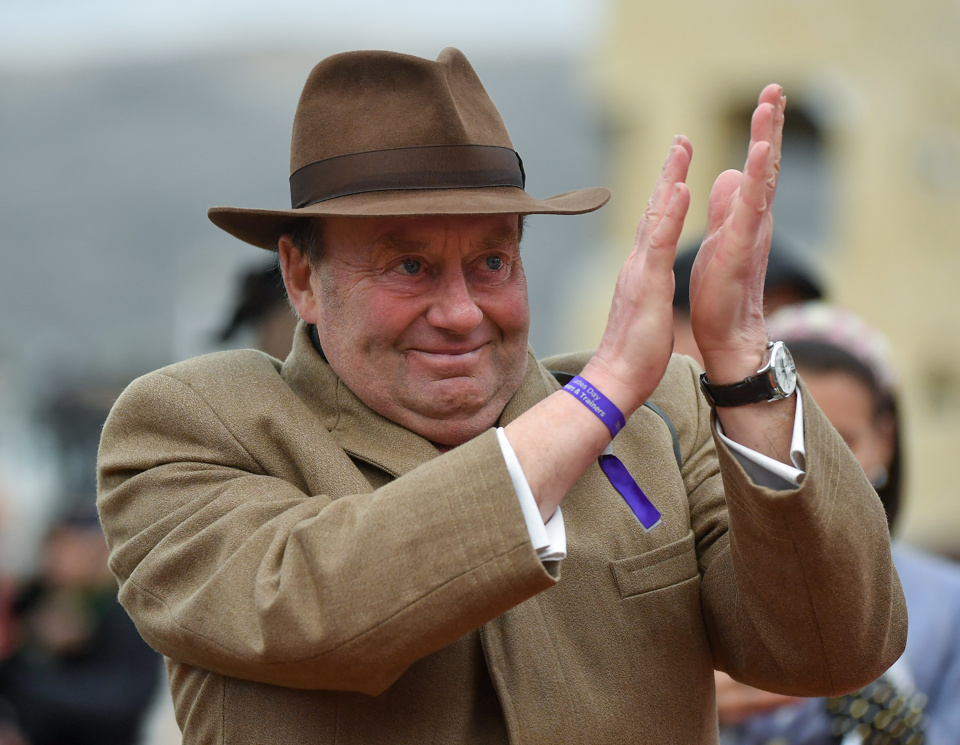 Nicky Henderson has a staggering record in the Dovecote Novices' Hurdle.