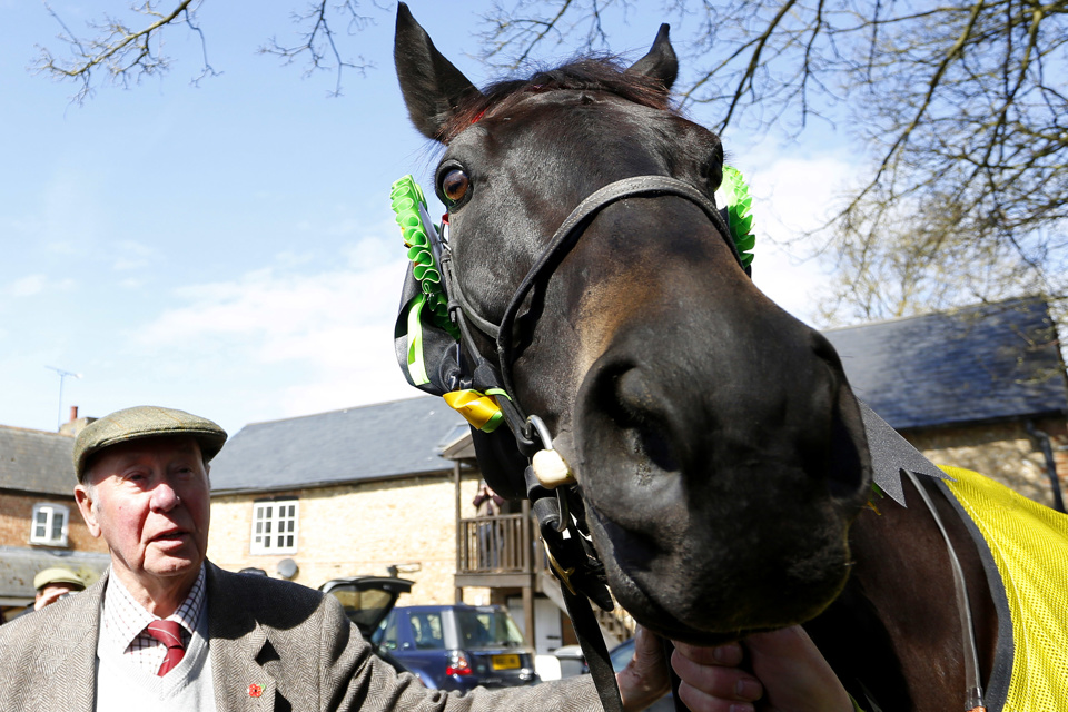 Trevor Hemmings is a three-time Grand National-winning owner, most recently with Many Clouds (pictured) in 2015.