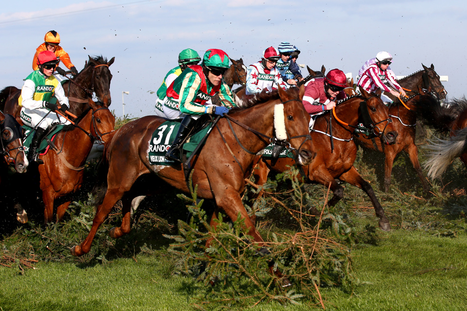 The Topham Handicap Chase is run over the Grand National fences at Aintree.