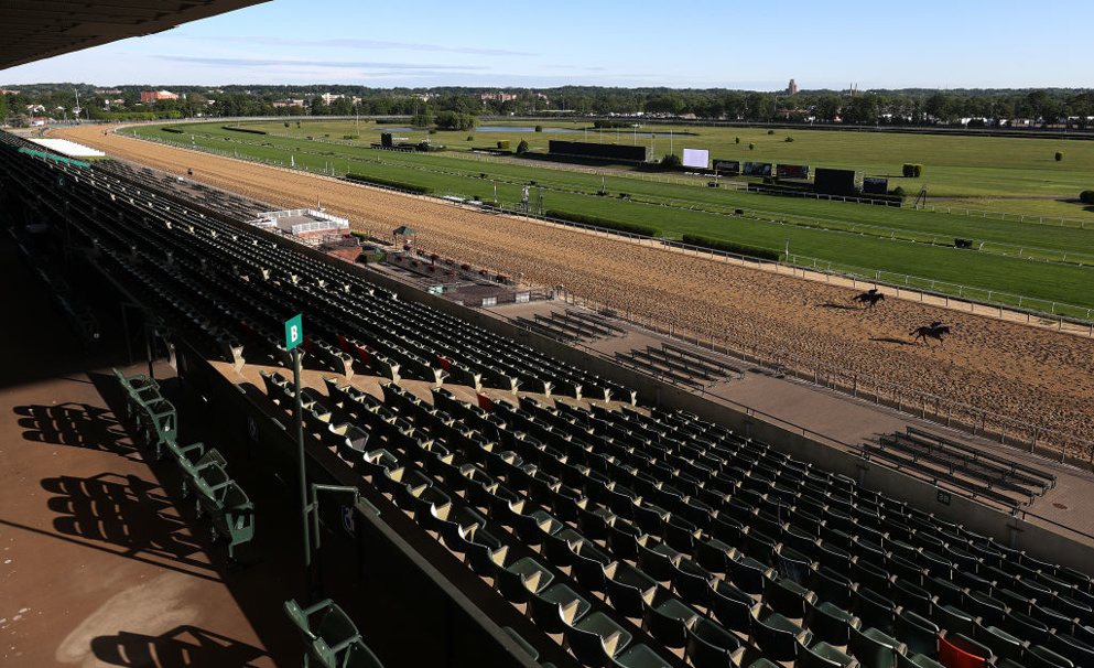 Belmont Park may have no fans in the stands on Saturday but the excitement for the Belmont Stakes is building